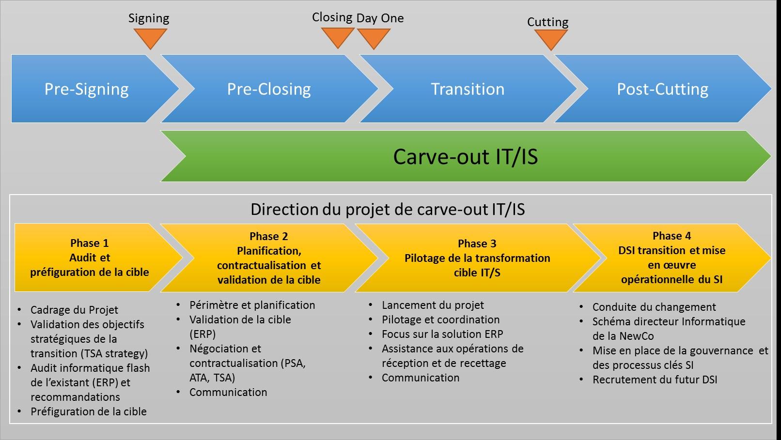 Direction projet Carve out IT Les bonnes pratiques du Carve out IT/IS